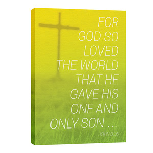 Color Wash John 3:16 24in x 36in Canvas Prints