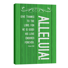 Painted Wood Alleluia Wall Art