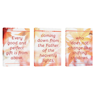 James 1:17 Leaves 24in x 36in Canvas Prints