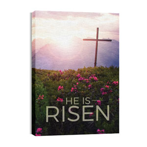 He Is Risen Mountain 24in x 36in Canvas Prints