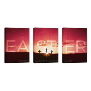 Celebrate Easter Crosses 24in x 36in Canvas Prints