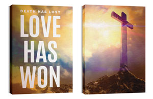 Love Has Won Pair 24in x 36in Canvas Prints