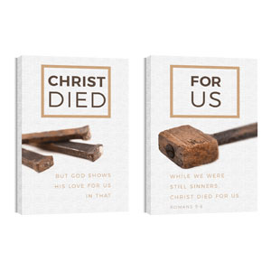 Died For Us Rom 5:8 24in x 36in Canvas Prints