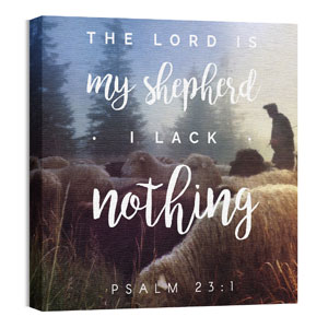 Photo Scriptures Psalm 23:1 24 x 24 Canvas Prints