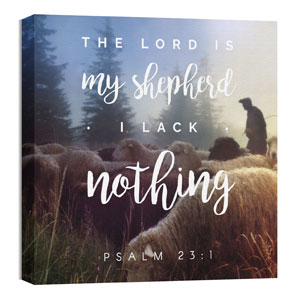 Photo Scriptures Psalm 23:1 36 x 36 Canvas Prints