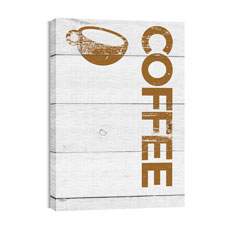 Shiplap Coffee White Wall Art