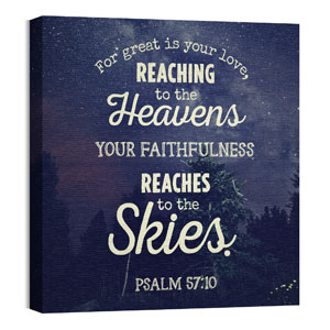 Skies Psalm 57:10 Wall Art