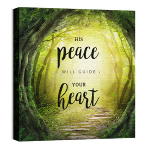 His Peace Will Guide 24 x 24 Canvas Prints