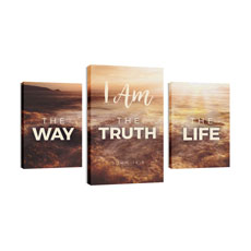 Way Truth Life Wall Art