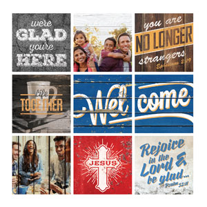 Mod General Set 1 24 x 24 Canvas Prints