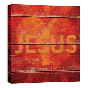 Mod Jesus Heart 24 x 24 Canvas Prints