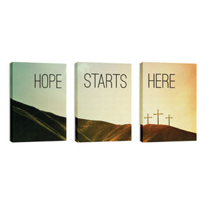 Hope Starts Here Calvary 24in x 36in Canvas Prints
