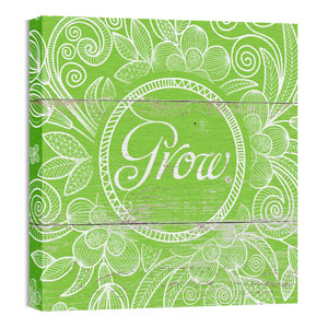 Mod Grow Green 24 x 24 Canvas Prints