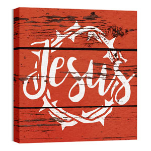 Mod Jesus Red 24 x 24 Canvas Prints