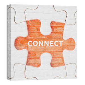 Mod Puzzle Connect 24 x 24 Canvas Prints