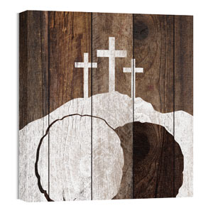 Mod Three Crosses Tomb Wall Art