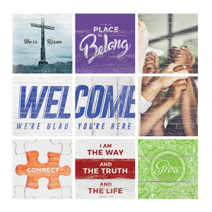 Mod Welcome Belong Set Wall Art