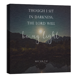 Lord Be My Light 24 x 24 Canvas Prints