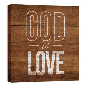 Mod God Is Love 24 x 24 Canvas Prints