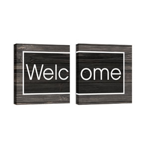 Mod Welcome Pair 4 24 x 24 Canvas Prints