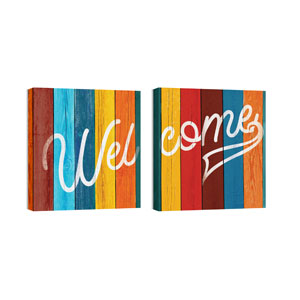 Mod Welcome Pair 6 Wall Art