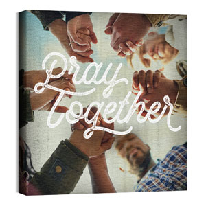 Mod Pray Together 24 x 24 Canvas Prints