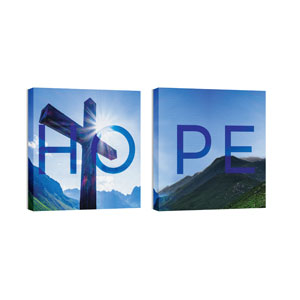 Hope Cross Pair Wall Art