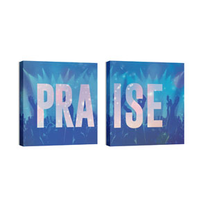 Praise Hands Pair 24 x 24 Canvas Prints