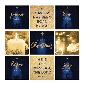 Christmas Star Hope is Born Christmas Set 24 x 24 Canvas Prints