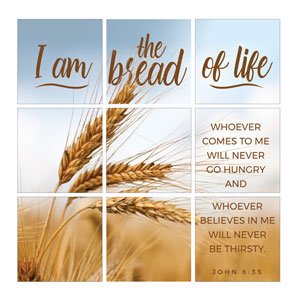 Mod Bread of Life Set 24 x 24 Canvas Prints