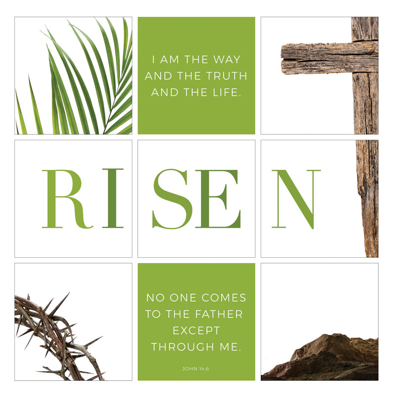 Wall Art, Easter, Easter Week Icons Risen Set, 24 x 24