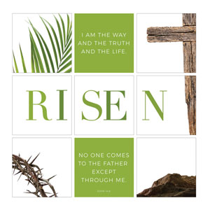 Easter Week Icons Risen Set 24 x 24 Canvas Prints