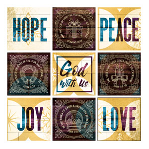 Mod God With Us Set 24 x 24 Canvas Prints