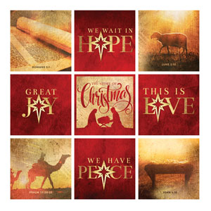 Mod Hope Is Born Star Set 24 x 24 Canvas Prints
