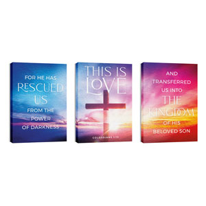 Love Easter Colors Triptych 24in x 36in Canvas Prints