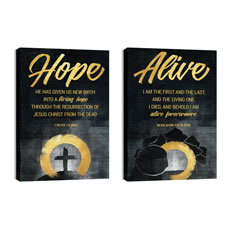 Hope Is Alive Gold Pair