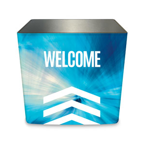 Chevron Welcome Blue Counter Sleeve Large Rectangle