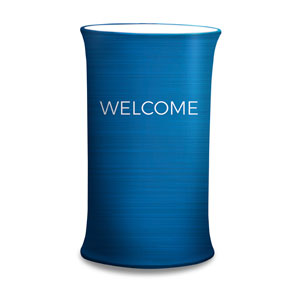General Blue Welcome Counter Sleeves Small Oval
