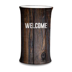 Dark Wood Welcome Counter Sleeves Small Oval