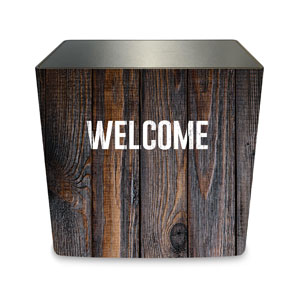 Dark Wood Welcome Counter Sleeve Large Rectangle