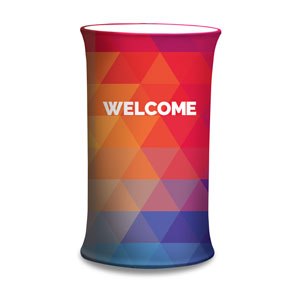 Geometric Bold Welcome Counter Sleeves Small Oval