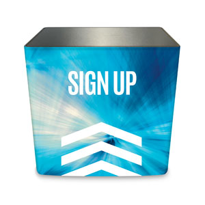 Chevron Blue Sign Up Counter Sleeve Large Rectangle