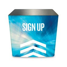 Chevron Blue Sign Up