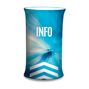 Chevron Blue Info Counter Sleeves Small Oval
