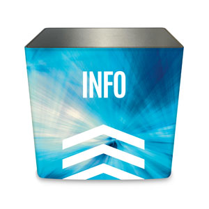 Chevron Blue Info Counter Sleeve Large Rectangle