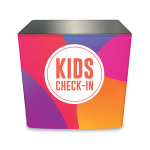 Curved Colors Kids Check-In Counter Sleeve Large Rectangle
