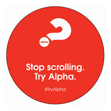Alpha Stop Scrolling Red