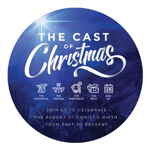 The Cast of Christmas Circle InviteCards
