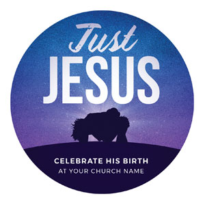 Just Jesus Circle InviteCards
