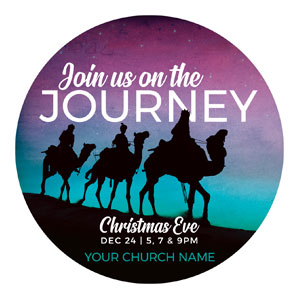 Wise Men Christmas Journey Circle InviteCards